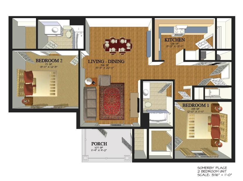 Glen Arbor Mobile Al Floor Plan